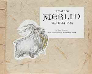 Artwork by  Books and Reference, A Tale of Merlin the Billy Dog