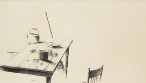 Artwork by Kenneth Danby, Kitchen Table