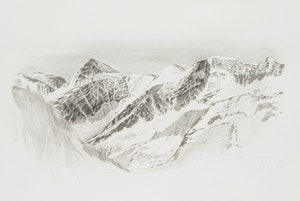 Artwork by Gordon Appelbe Smith, Mountain Range