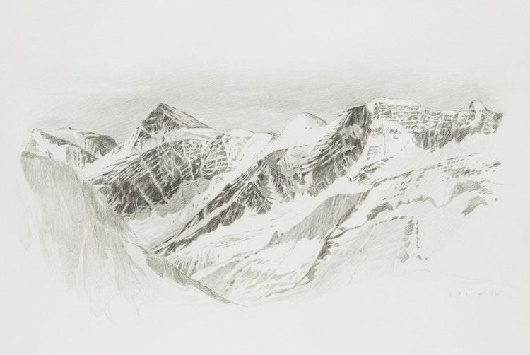 Artwork by Gordon Appelbe Smith,  Mountain Range