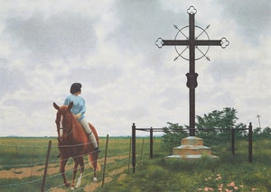Artwork by David Alexander Colville, French Cross
