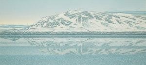 Artwork by Christopher Pratt, Lance Point Rock