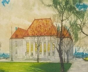 Artwork by Nicholas Hornyansky, Supreme Court of Canada, Ottawa