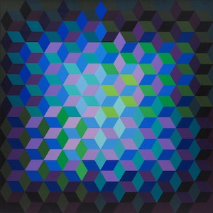 Artwork by Victor Vasarely, Hexagon no. 1