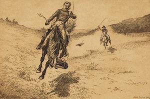 Artwork by John Innes, Bucking Horse