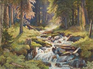 Artwork by Frederick Henry Brigden, Mountain Brook
