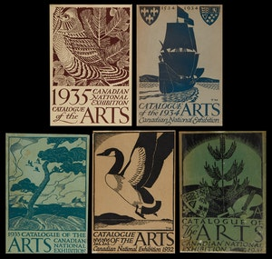 Artwork by  Books and Reference, Canadian National Exhibition Catalogue of the Arts