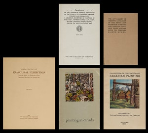 Artwork by  Books and Reference, Five Canadian art exhibition catalogues
