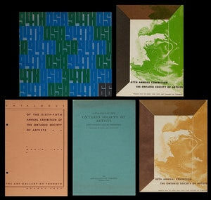 Artwork by  Books and Reference, Ontario Society of Artists Annual Exhibition catalogues