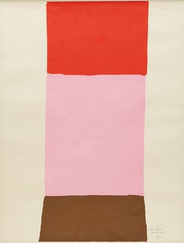 Artwork by Jack Hamilton Bush, Orange, Pink, Brown