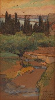 Artwork by William Brymner, Country Landscape