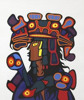 Artwork by Norval Morrisseau, Ojibway Medicine Man
