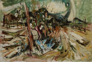 Artwork by Alexander Samuel Millar, Fenced In Landscape; Abstract Landscape; Autumn Island Landscape