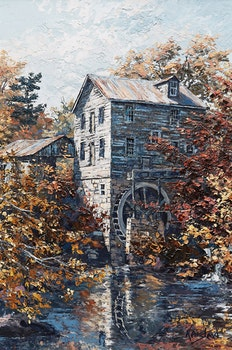 Artwork by James Keirstead, Wiley's Caledon Mill