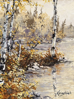 Artwork by James Keirstead, Sunlit Yellows, Shadow Lake