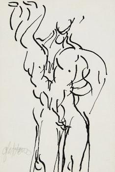 Artwork by Gerald Gladstone, Universal Man