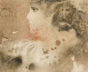 Artwork by Héctor Poleo, Profile of a Woman