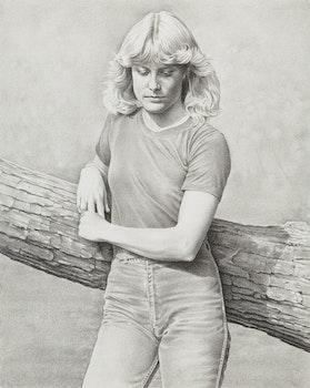 Artwork by Kenneth Danby, Portrait of a Girl