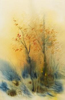 Artwork by Marjorie Pigott, A Touch of Autumn