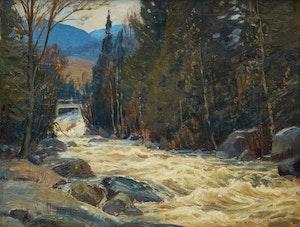 Artwork by Frederick Henry Brigden, Laurentian Rapids
