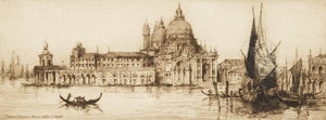 Artwork by James Alphege Brewer, Venice - Santa Maria Della Saluta