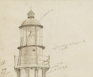 Artwork by Lawren Stewart Harris, Study for Lighthouse, Father Point, Quebec