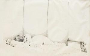 Artwork by J. David Brown, Sleeping Nude