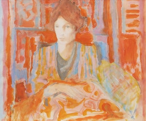 Artwork by Peter Alfred Harris, Red Interior