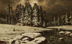 Artwork by Homer Ransford Watson, Winter on the Grand/Doon River