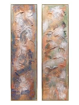 Artwork by Gail Ashby, Duet I; Duet II