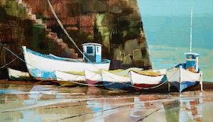 Artwork by Hilton MacDonald Hassell, Below the Sea Wall, Rozel, Jersey