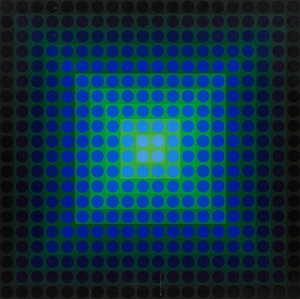 Artwork by Victor Vasarely, Permutations no. 3