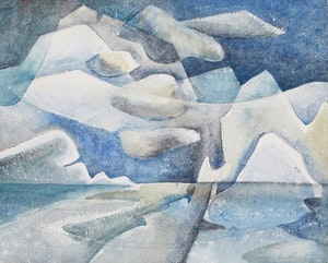 Artwork by Doris Jean McCarthy, Iceberg Fantasy