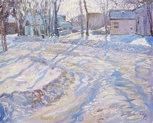 Artwork by Garth Armstrong, Winter Landscape