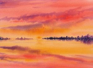 Artwork by John Murden, Sunset Landscape