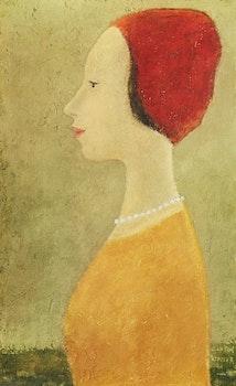 Artwork by Jean Paul Lemieux, Portrait d'une jeune fille