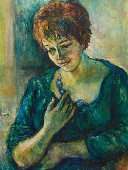 Artwork by Sylvia Ary, Girl with a Necklace