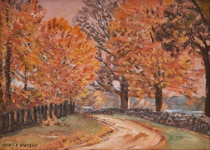 Artwork by Homer Ransford Watson, Road to Gault