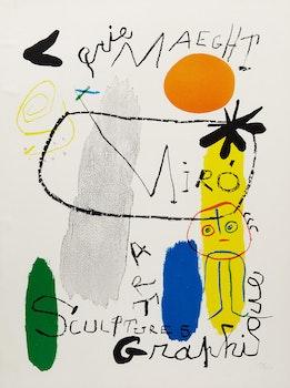 Artwork by Joan Miro, Galerie Maeght