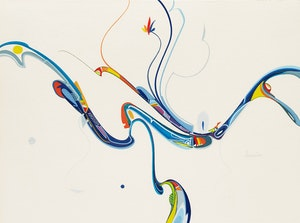 Artwork by Alex Simeon Janvier, The Oil Miner from the East
