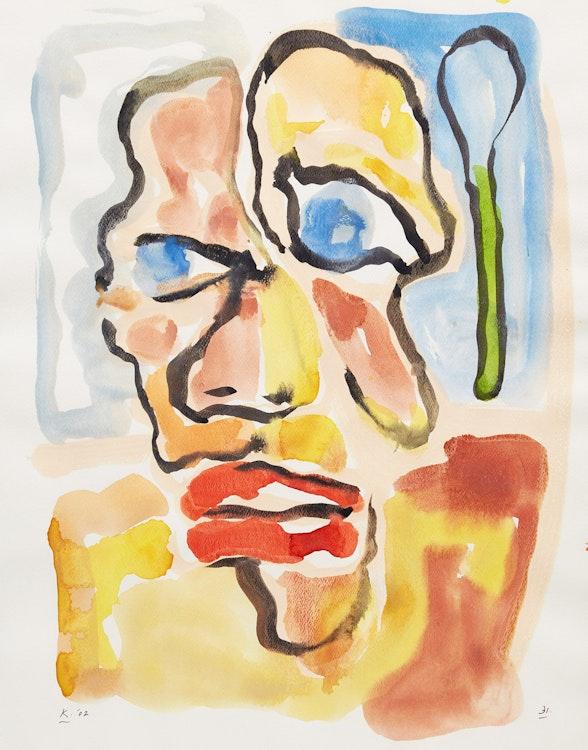 Artwork by Harold Klunder,  Untitled (Portrait)