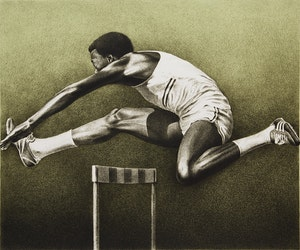 Artwork by Kenneth Danby, Olympic Series (The Sculler, The Vaulter, The Diver and The Hurdler)