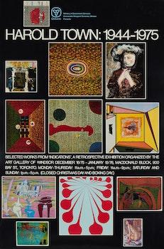 Artwork by Harold Barling Town, Soundings: new canadian poets; Harold Town: 1944-1975