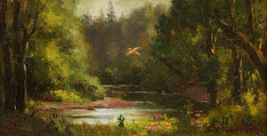 Artwork by Joseph-Charles Franchère, The Pond