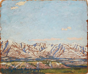 Artwork by Stanley Francis Turner, September Snow in the Rockies