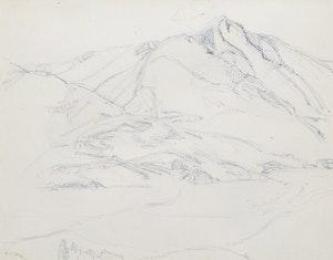 Artwork by Frederick Horsman Varley, Valley and Peaks