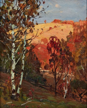 Artwork by Frank Shirley Panabaker, Late Sun