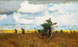 Artwork by George Franklin Arbuckle, The Edge of the Barrens, Ungava