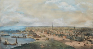 Artwork by Edwin Whitefield , Toronto, Canada West from the Top of the Jail, 1854