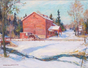 Artwork by Manly Edward MacDonald, Bruce's Mill